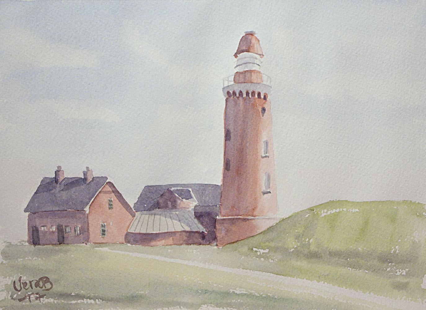 """Bovbjerg lighthouse, Jutland, Denmark. 22x30 cm (8,8x12"""") 2017. 175€"""