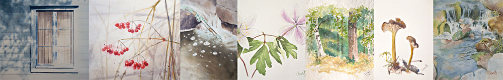 Photo collage watercolours by Vera Billing