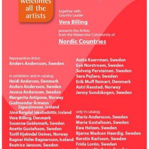 FabrianoinAcquarello 2018 poster Nordic Countries